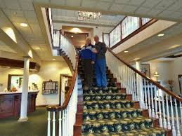 Great staircase Picture of The Inn at Amish Door Wilmot