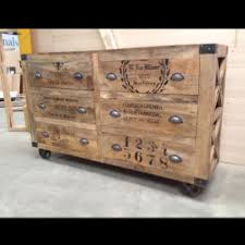 Malm 6 Drawer Chest Package Dimensions by Industrial Rustic Grinder 6 Drawer Chest Drawers Sideboard