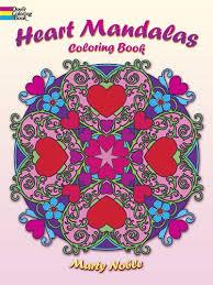 Heart Mandalas Coloring Book English Mandala Adult Books