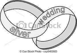 Silver Wedding Rings Vector