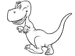 Funny T Rex Dinosaur Coloring Sheet For Children