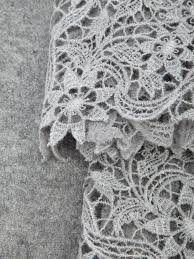 ermanno scervino lace scarf in gray lyst