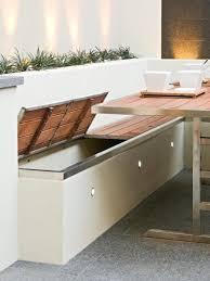 multi award winning courtyard design diy design storage benches
