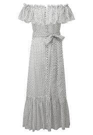mira button down white polka dot dress u2013 lisa marie fernandez
