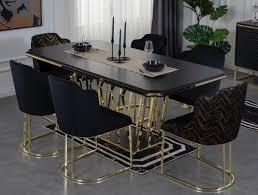 casa padrino luxus esszimmer möbel set schwarz gold 1 esszimmertisch 6 esszimmerstühle luxus esszimmer möbel