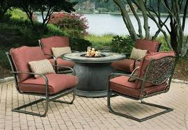 Sams Club Patio Set With Fire Pit by Fire Pit Table Chairs Premium 5 Piece Chat Set With Inch Round