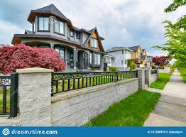 100 Concrete Residential Homes Row Of Houses With Pathway Along The
