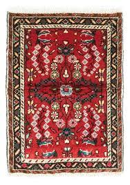 hamadan teppich 70 x 50 cm rot morgenland teppiche