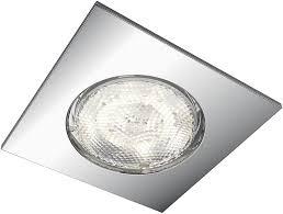 philips 5900611p0 mybathroom led einbauspot dreaminess 500 lm aluminium chrom 7 5 x 7 5 x 5 cm