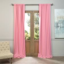120 Inch Length Blackout Curtains by Exclusive Fabrics U0026 Furnishings Semi Opaque Precious Pink Blackout