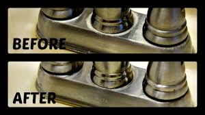 Brushed Nickel Bathroom Faucets Cleaning by How To Remove Hard Water From Sink Faucets Hd Youtube
