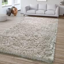 wohnzimmer hochflor teppich shaggy sehr soft und weich unifarben in grau größe 160x220 cm
