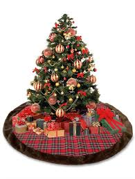 Discount Plaid Christmas Tree Skirt