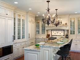 Traditional White Kitchen Cabinets Enlarge With Dark Intended For