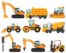 Different Types Of Construction Trucks Illustration Royalty Free ...