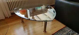 couchtisch glastisch wohnzimmer füße edelstahl gebürstet