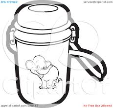 Clipart within School Water Bottle Clipart Black And White 9995