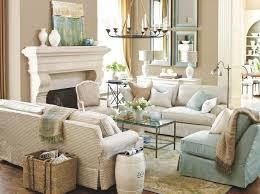 Tan Gray Living Room Brown Wall Color Cream Fabric Arms Bench Deep