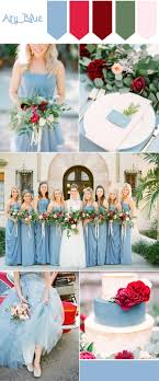 Pantone Fall Wedding Colors Airy Blue And Red Color Inspiration
