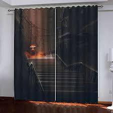 hantaodg gardine vorhänge schwarze minimalistische treppe