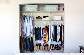 How To Organize A Small Closet Just Girl And Her Blog Organizing