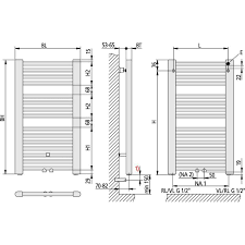kermi basic 50 gerade design badheizkörper