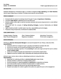 Sales And Marketing Resume Sample For 2 Years Experience