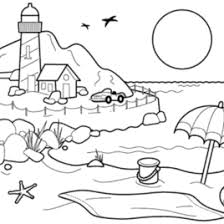 1000 Images About Beach Coloring Sheets On Pinterest