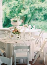 White Folding Chairs Reception Decor - Elizabeth Anne Designs: The ...