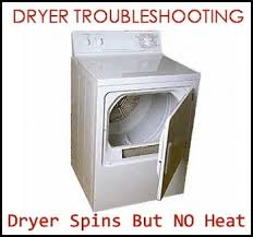 dryer spins but no heat how to troubleshoot removeandreplace