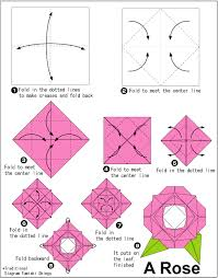 Origami Easy Flower How To Make An Rose For Kidsbeginners Craftphoto Ideas