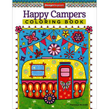 Design Originals Happy Campers Coloring Book