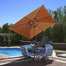9 Ft Patio Market Umbrella by Outdoor Portable Pool Umbrella Black Garden Umbrella Garden