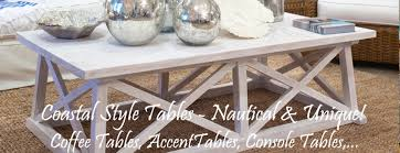 Nautical Style Living Room Furniture by Coastal Tables Nautical Style Themes For Coastal Living