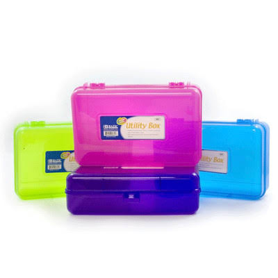Bazic Bright Color Multipurpose Utility Box Case