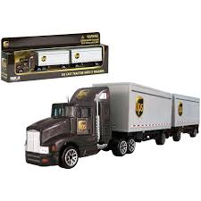 100 Ups Truck Toy UPS Tandem Tractor Trailer