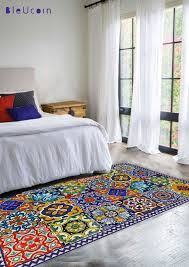 Floor Vinyl Rug Mexican Talavera Style By Bleucoin On Etsy Oh Goodness 2 Of The X In My Kitchen For A Runner Front Stove