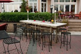 High Top Tables At Liberty House Restaurant In Jersey City For Outdoor Dining