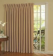 Menards Patio Door Drapes by Double Fabric Door Curtains And Mounted Blinds For White Wooden
