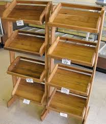 Neoteric Wooden Display Shelves Perfect Decoration WOODEN COUNTRY STORE STYLE DISPLAY SHELVES LOT OF Lot 4