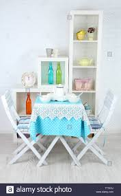 Wooden Chairs And Table In Cozy Kitchen Stock Photo ... Monde 2 Chair Ding Set Blue Cushion New Bargains On Modus Round Yosemite 5 Piece Chair Table Chairs Aqua Tot Tutors Kids Tables Tc657 Room And Fniture Originals Charmaine Ii Extendable Marble 14 Urunarr0179aquadingroomsets051jpg Moebel Design Kingswood Extending 4 Carousell Corinne Medallion With Stonewash Wood Turquoise Chairs Farmhouse Table Turquoise Aqua