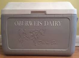 Coleman Oberweis Dairy Box Home Delivery Milk Cooler Ice Chest
