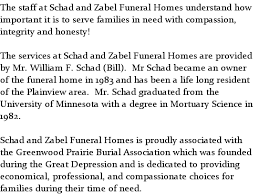 Schad and Zabel Funeral Homes