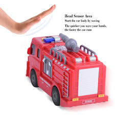 RED MINI FIRE Truck Car Model Toy With Waving Sensor Funny Kids Gift ...