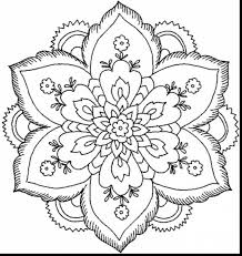 Stunning Nature Flower Mandala Coloring Pages With For Adults Flowers And