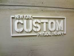 Laser cut acrylic sign letters NYC Waterjet cut metal sign