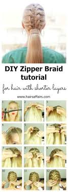HOW TO DO A ZIPPER BRAID ON YOURSELF