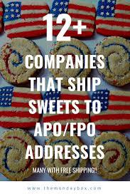 Companies That Ship Sweets To APO/FPO Addresses - The Monday Box