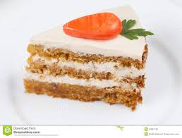 Slice of homemade tasty carrot sponge cake Stock