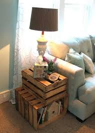 25 DIY Side Table Ideas With Lots Of Tutorials Crate End TablesWooden
